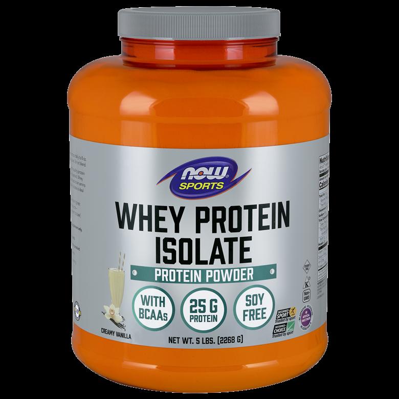 나우푸드 웨이 프로틴 아이솔레이트 파우더 단백질 보충제, 2268g, 크리미 바닐라(Creamy Vanilla)