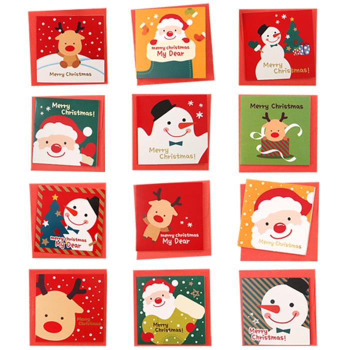 투영디자인 크리스마스 카드 12종 세트, 랜덤발송, 1세트