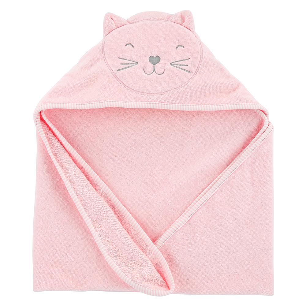카터스 여아용 고양이 후드 목욕 타올