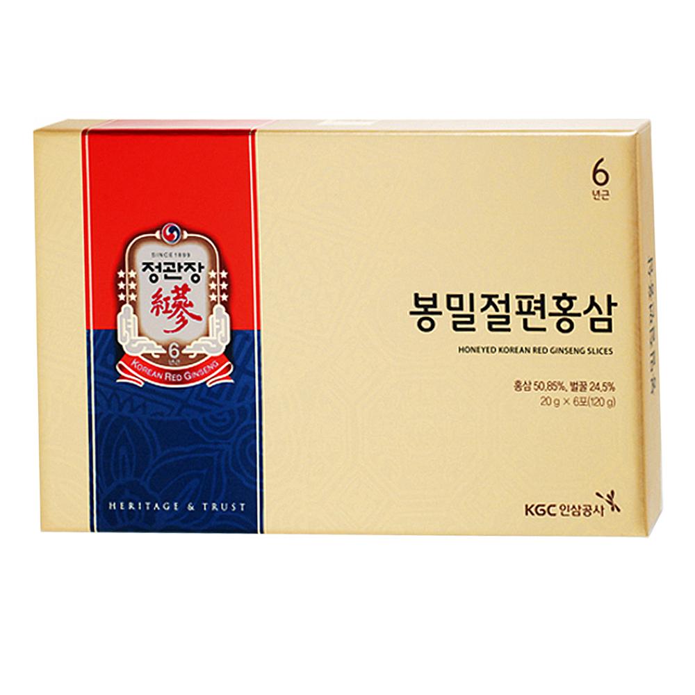 정관장 봉밀절편홍삼 + 쇼핑백, 20g, 6개