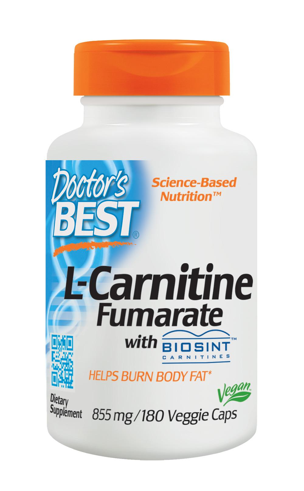 Doctor's Best L-카르니틴 855 mg 베지 캡, 180개입, 1개