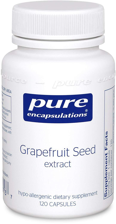 퓨어인캡슐레이션 그레이프프루트 씨드 추출물 캡슐 글루텐 프리, 120개입, 1개