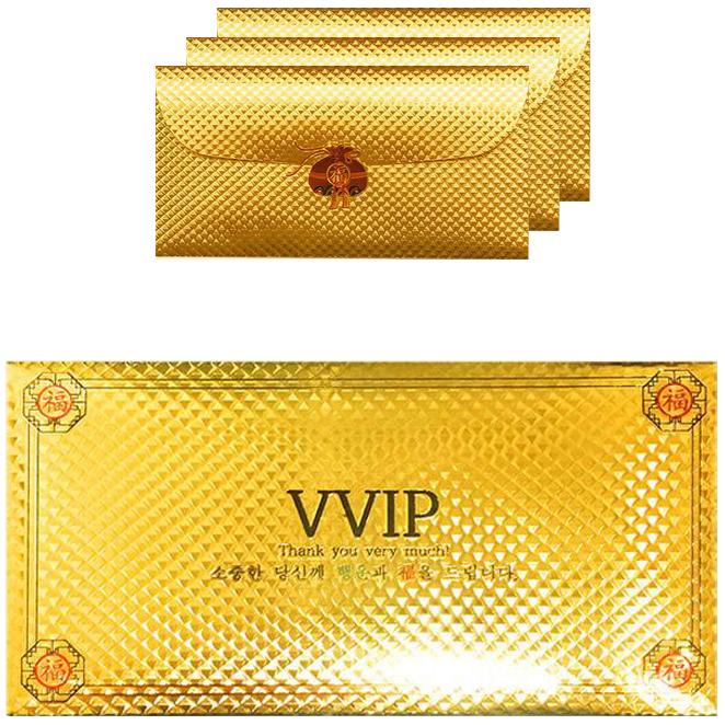 럭키심볼 황금 용돈 봉투, 혼합 색상, 4개입