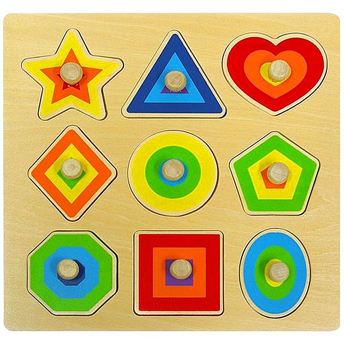 토도리브로 원목교구 도형 꼭지퍼즐, 1개, 9개