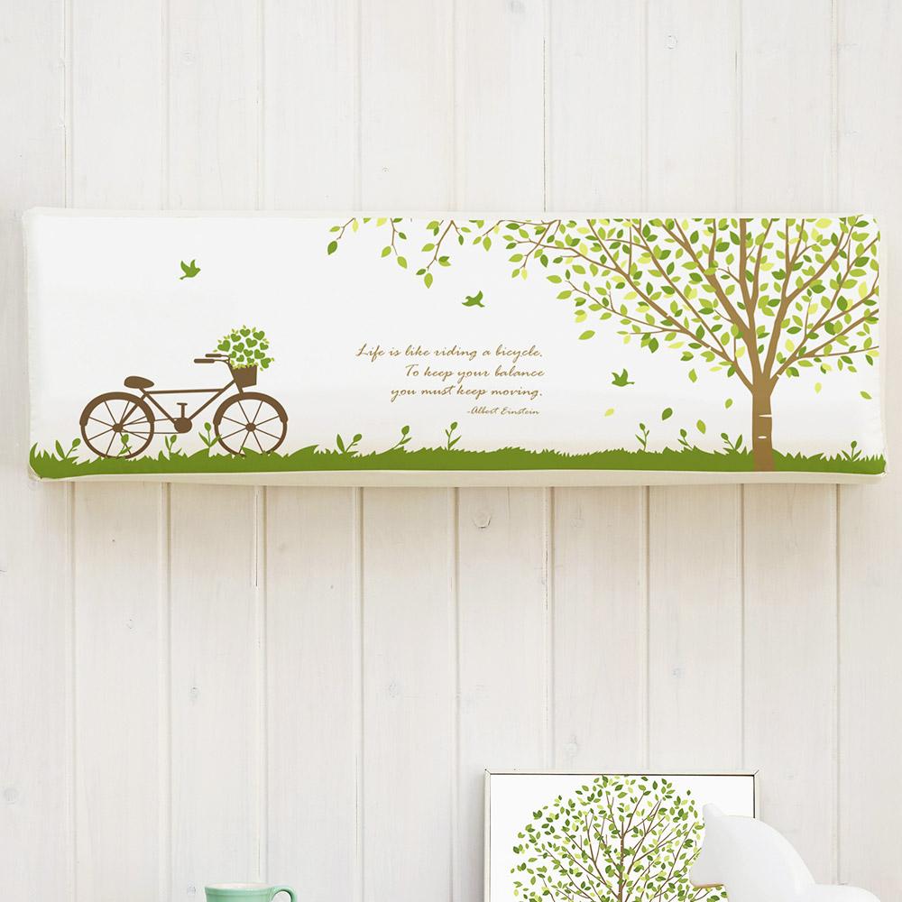 더자리 스판 에어컨 커버 벽걸이형, 숲속나무