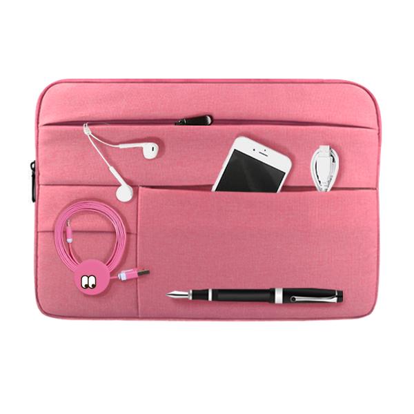 디스트 포켓 노트북파우치, 핑크, 15in
