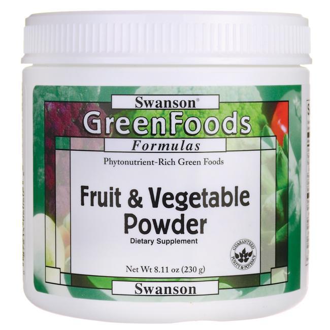 스완슨 그린푸드 과일 & 야채 파우더 단백질 보충제, 230g, 1개