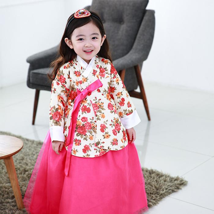 꼰띠키즈 여아용 누리당의 한복