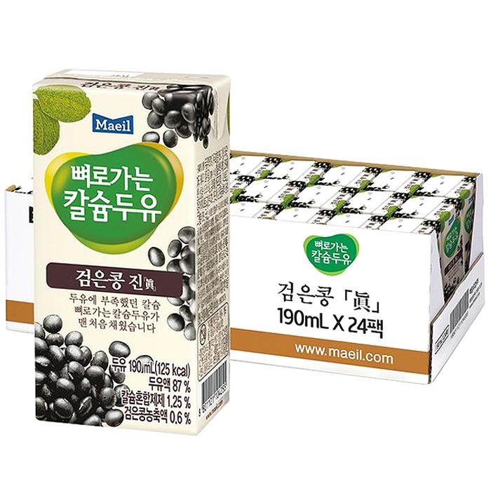 뼈로가는칼슘두유 검은콩 진, 190ml, 24개