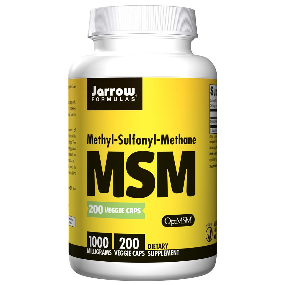 [쿠팡 직수입] Jarrow Formulas MSM 1000mg 베지캡슐, 200개입