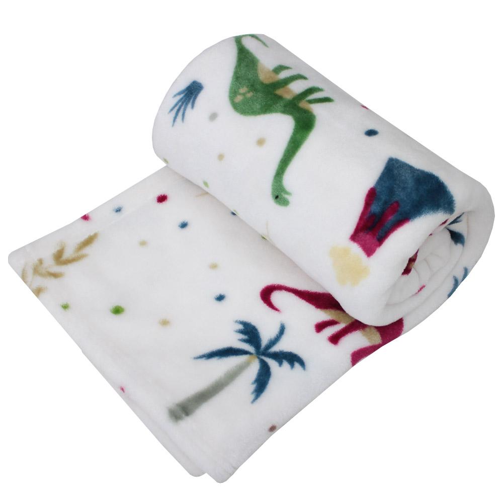 아이자리 유아용 밍크 극세사 담요 소형 (100 x 75cm), 다이노소어