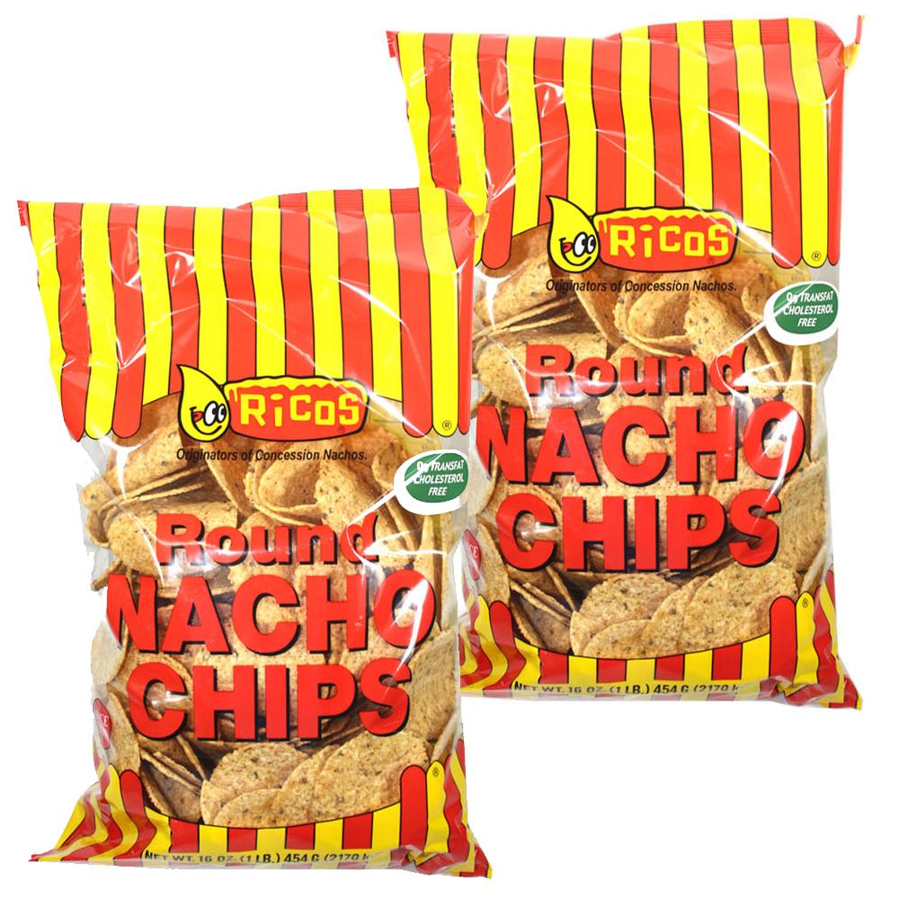 리코스 라운드 나쵸 칩, 454g, 2개