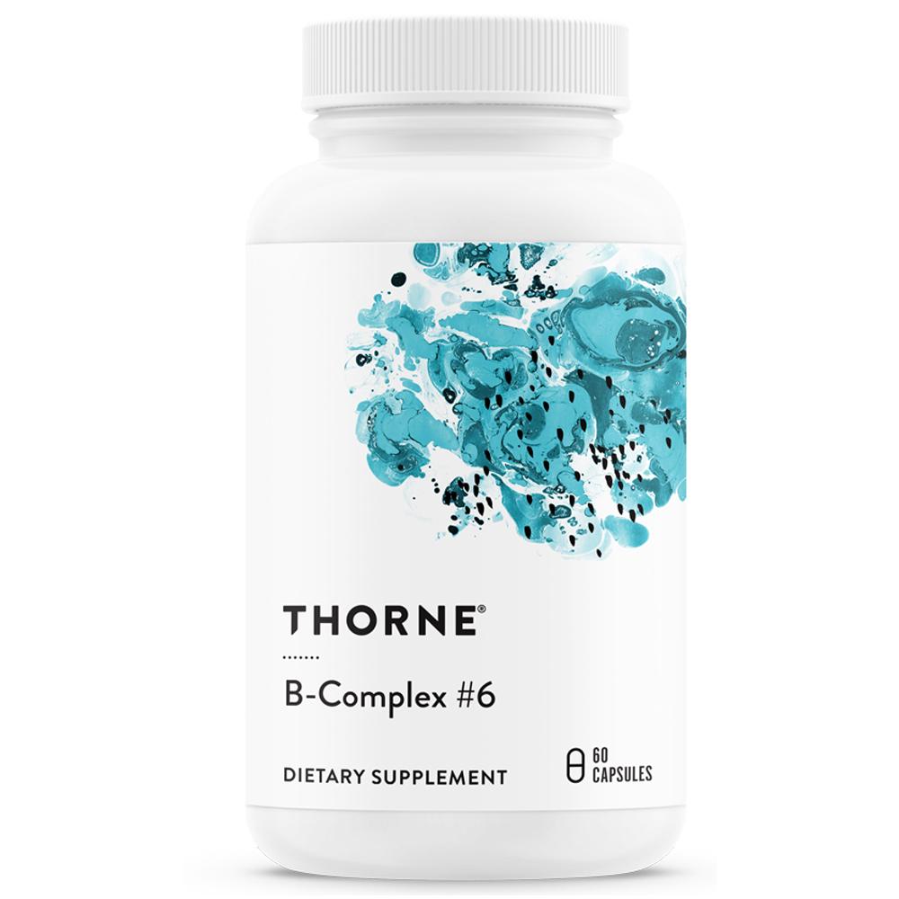 Thorne Research B-컴플렉스 #6 베지테리안 캡슐, 60개입, 1개