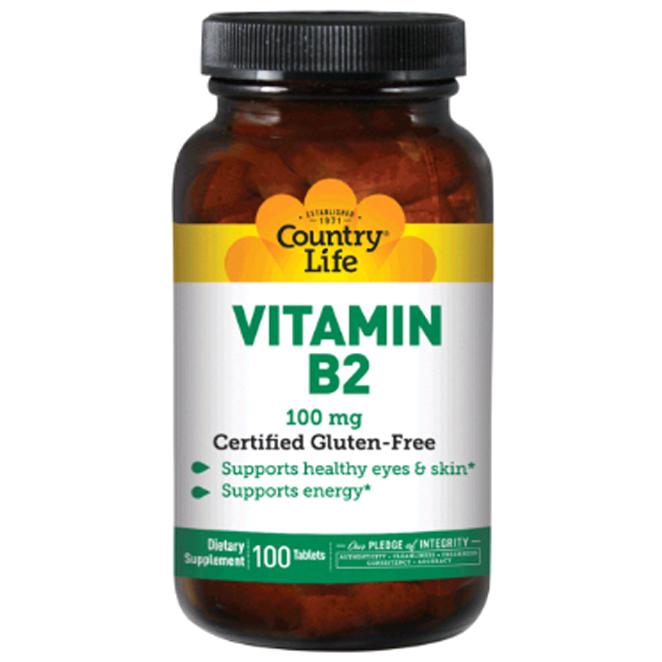 Country Life Vitamins 비타민 B2 100 mg 타블렛, 100개입, 1개