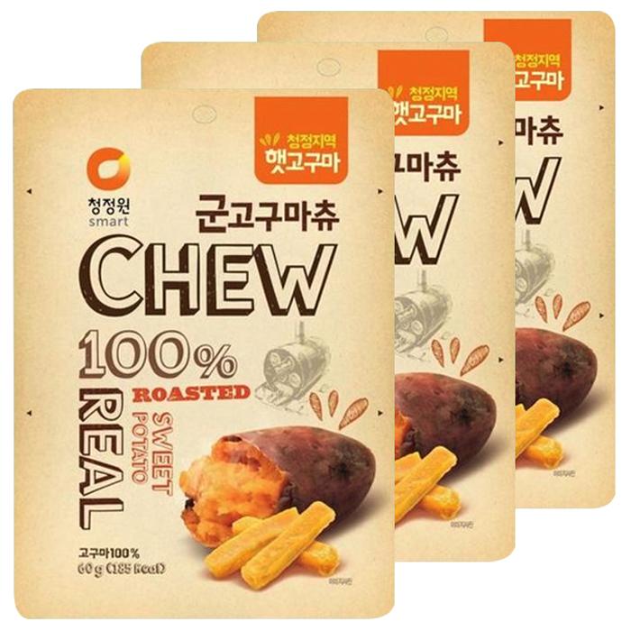 청정원 츄앤리얼 군고구마츄, 60g, 3개