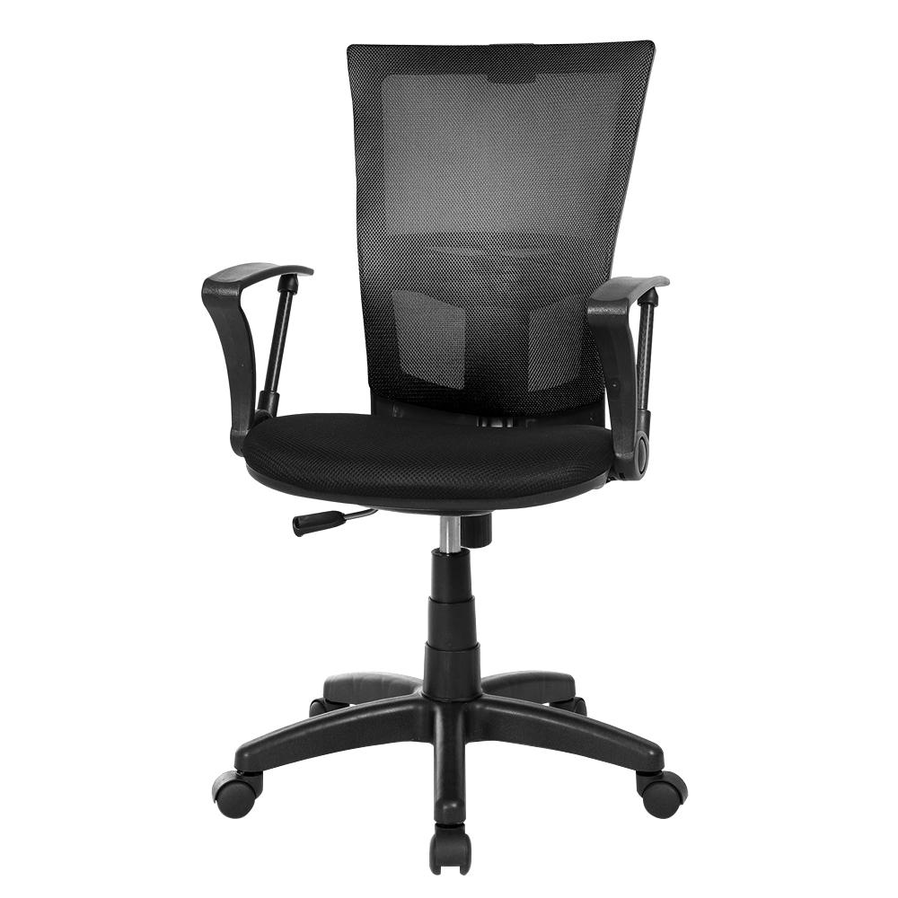체어클럽 M1 기본형 블랙바디 메쉬 의자, 블랙
