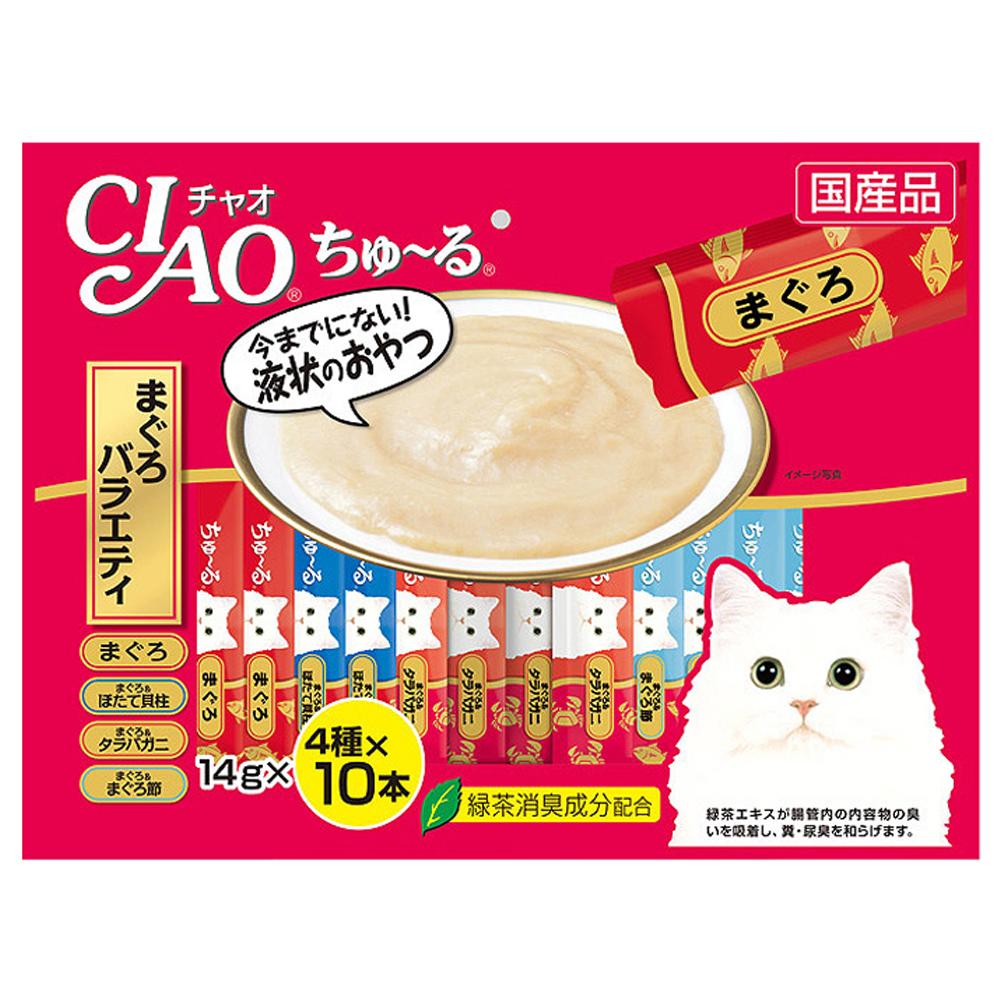 이나바 챠오츄루 고양이 간식, 참치 버라이어티, 40개입