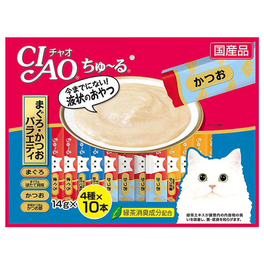 이나바 챠오츄루 고양이 간식, 가다랑어 버라이어티, 40개입