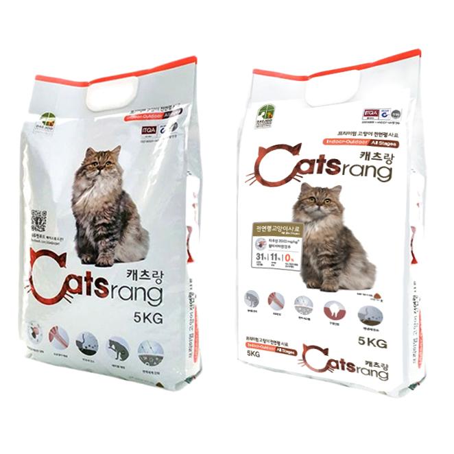 캐츠랑 전연령 인도어 겸용 고양이 건식사료, 닭, 5kg