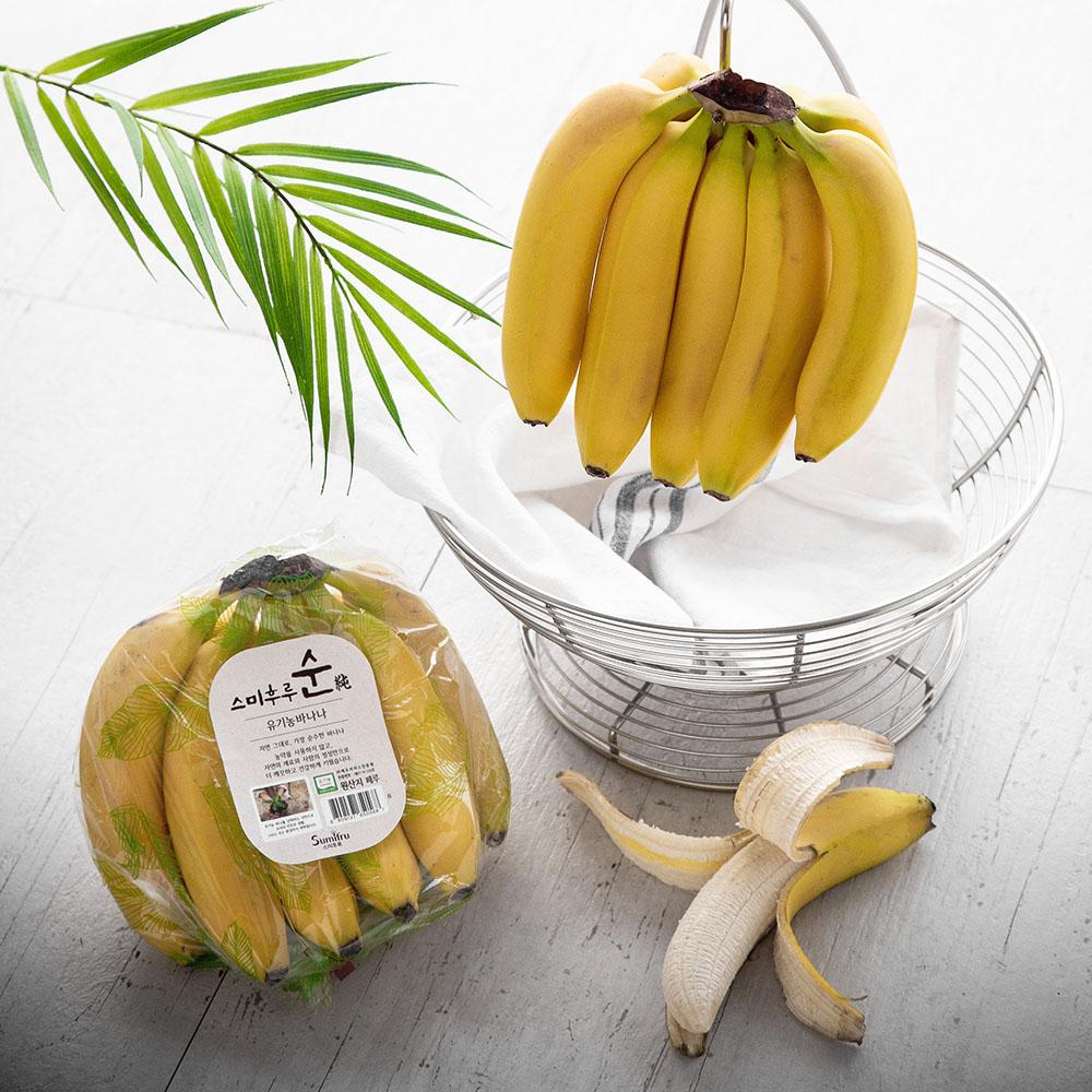 스미후루 순 유기농인증 바나나, 1.2kg, 1개