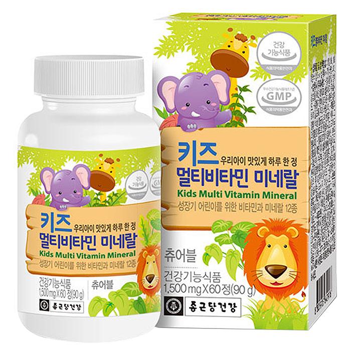 종근당건강 키즈 멀티비타민 미네랄, 60정, 1개