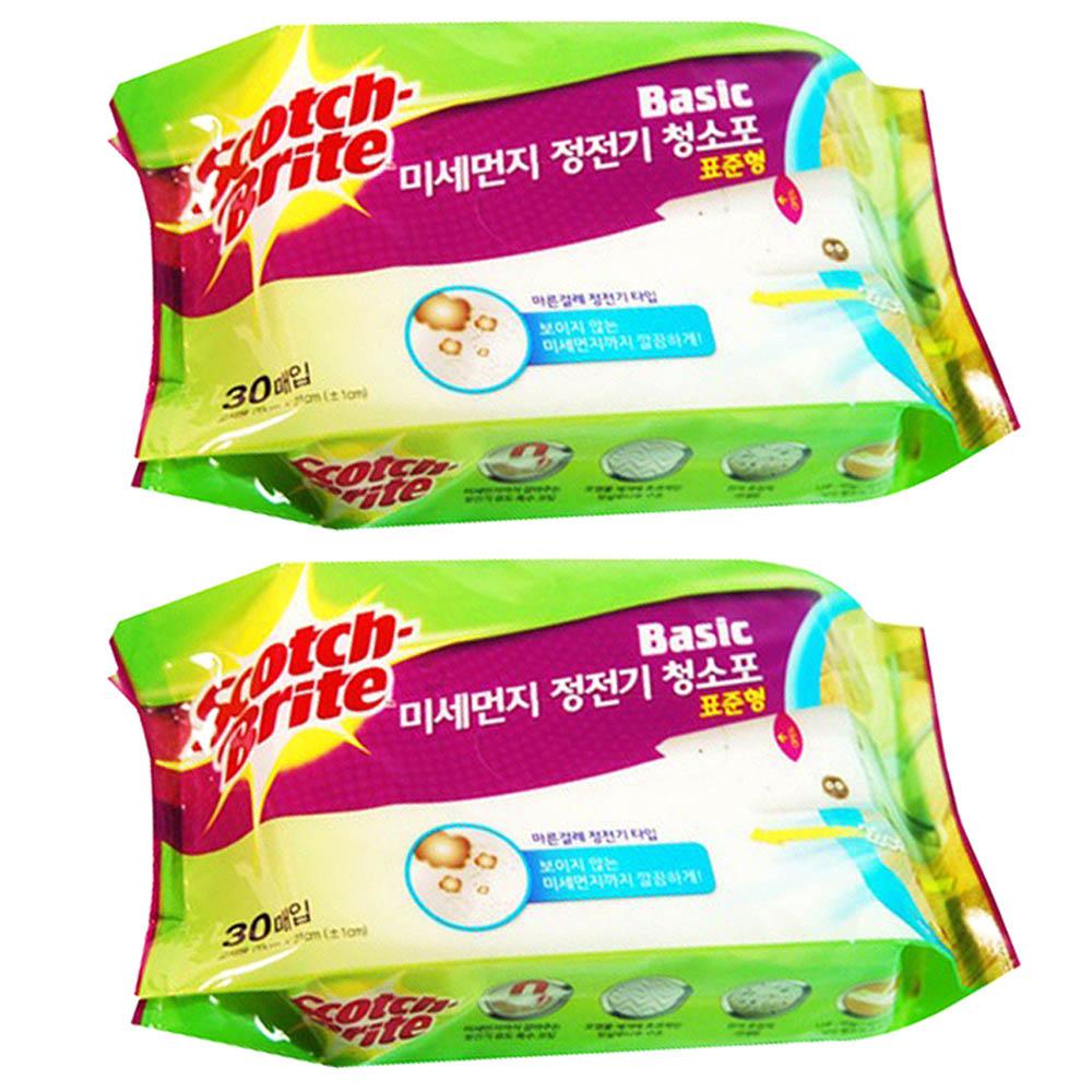 스카치브라이트 베이직 미세먼지 정전기 청소포 30p, 2개