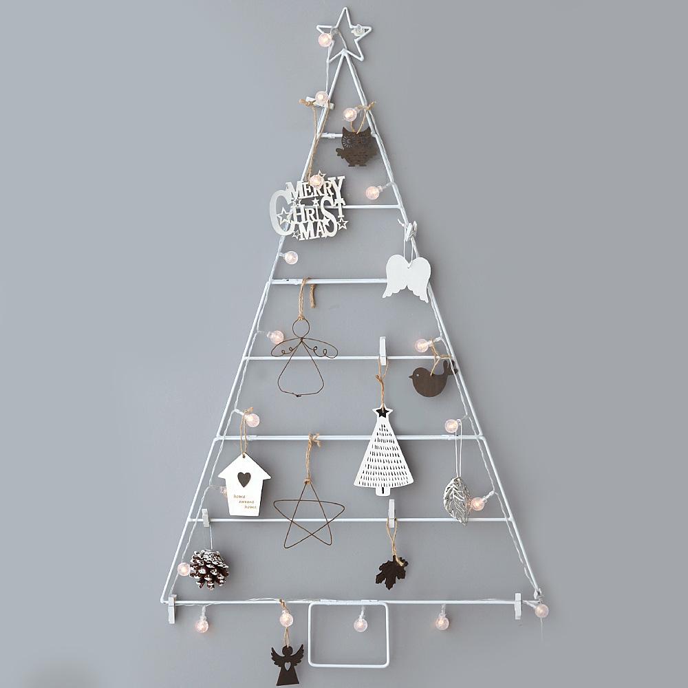 조아트 크리스마스 모던 와이어 벽트리 + 뽀숑루돌프, 모던화이트