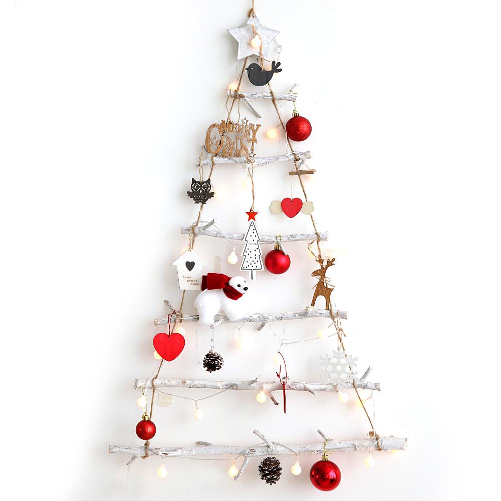 조아트 크리스마스 내츄럴 벽트리 + 뽀숑루돌프, 내츄럴레드