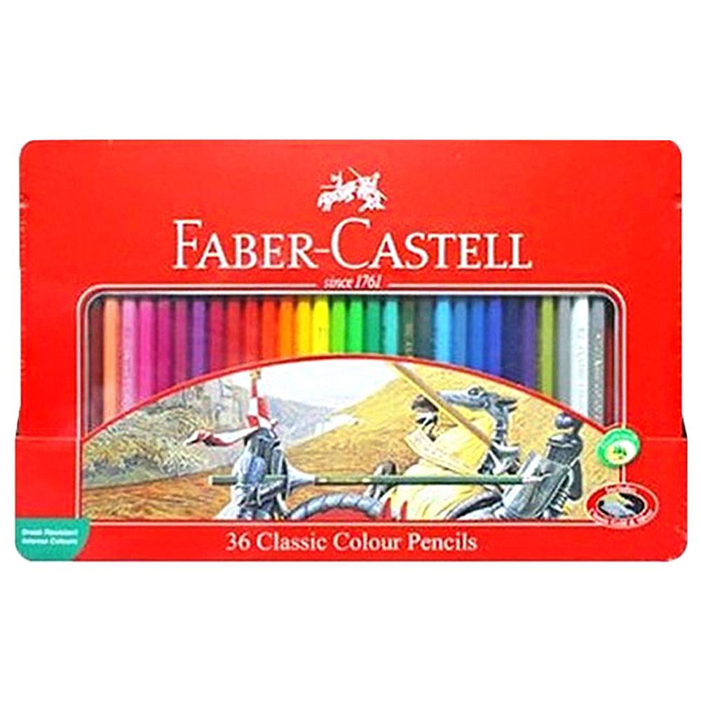 파버카스텔 일반 색연필 틴케이스 랜덤발송, 36색