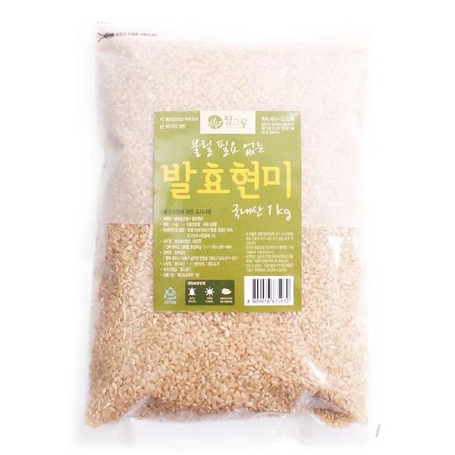 청그루 불릴 필요 없는 발효현미, 1kg, 1개