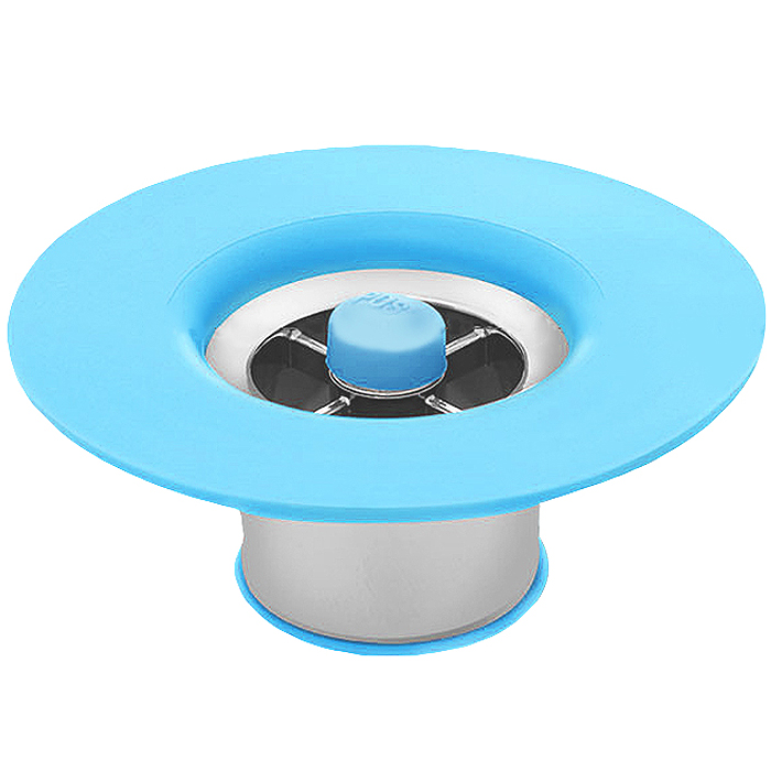 셀클리너 하수구 트랩, 1개, 욕실용-블루
