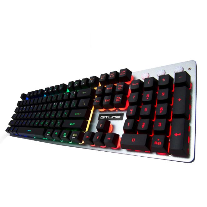 한성컴퓨터 멤브레인 게이밍 유선키보드, GTune MBF77 Vision, 블랙