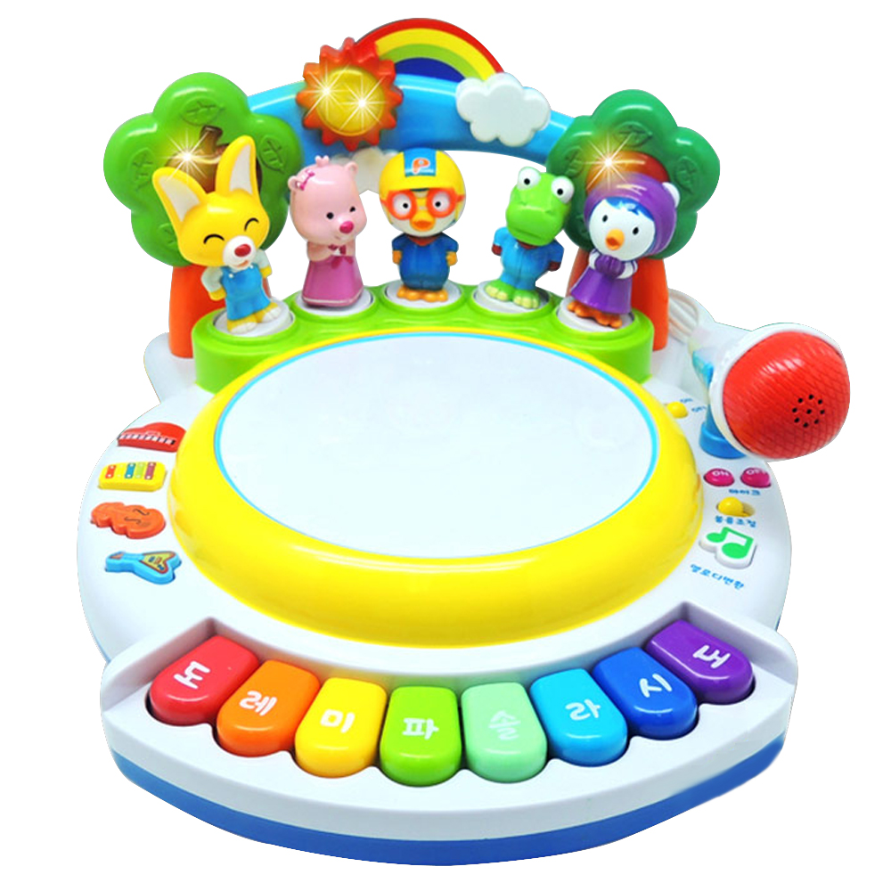 뽀로로 빙글빙글 춤추는 노래방 장난감, 혼합 색상