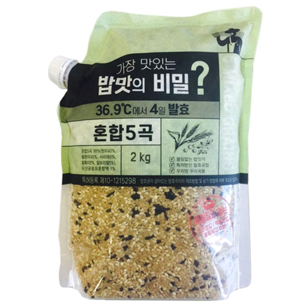 가장 맛있는 밥맛의 비밀 4일 발효 혼합 5곡, 2kg, 1개