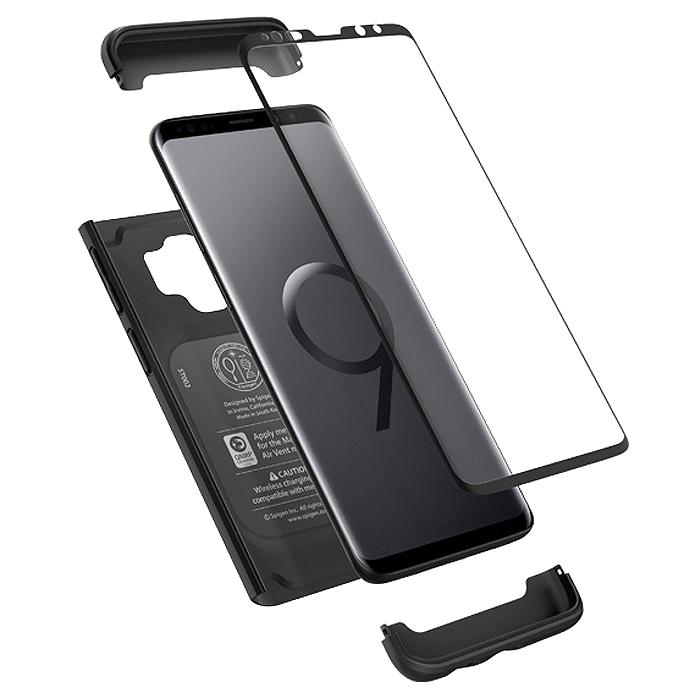 슈피겐 휴대폰 케이스 씬핏 360 + 강화유리필름