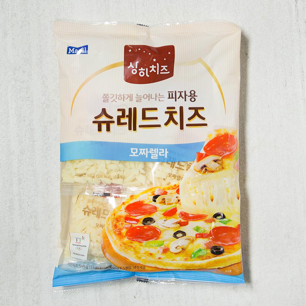 상하치즈 모짜렐라 피자용 슈레드 치즈, 500g, 1개