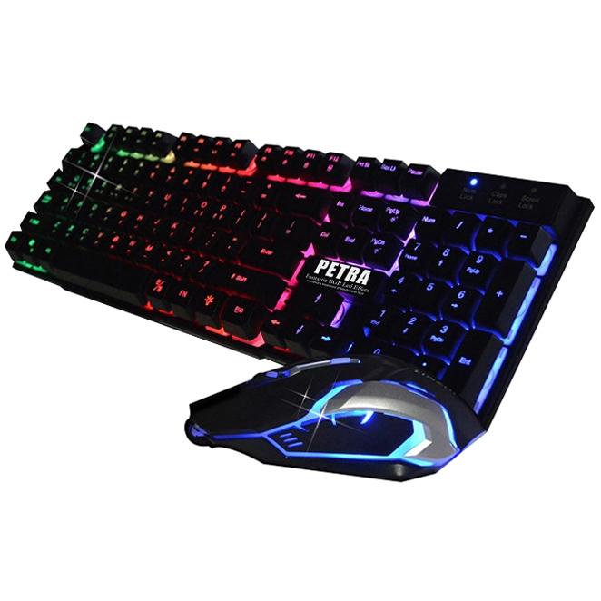 리딕글로벌 PETRA MK 게이밍 유선 키보드 마우스 세트, 단일상품, 단일색상