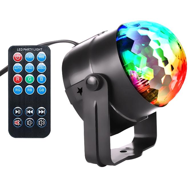 사운드판다 LED 미러볼 라이트, 혼합 색상, 1개