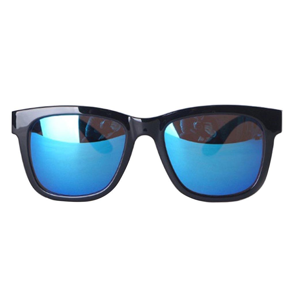 오클랜즈 미러 선글라스 ST306, 프레임(유광블랙 + 유광블랙), 미러렌즈(블루미러)