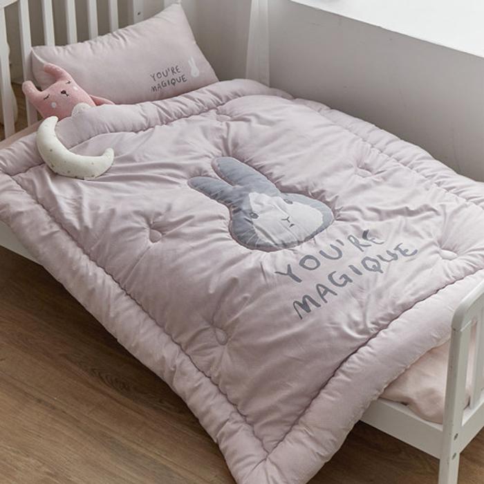 쉬즈홈 사계절 차렵형 낮잠이불 베개솜 세트, 핑크