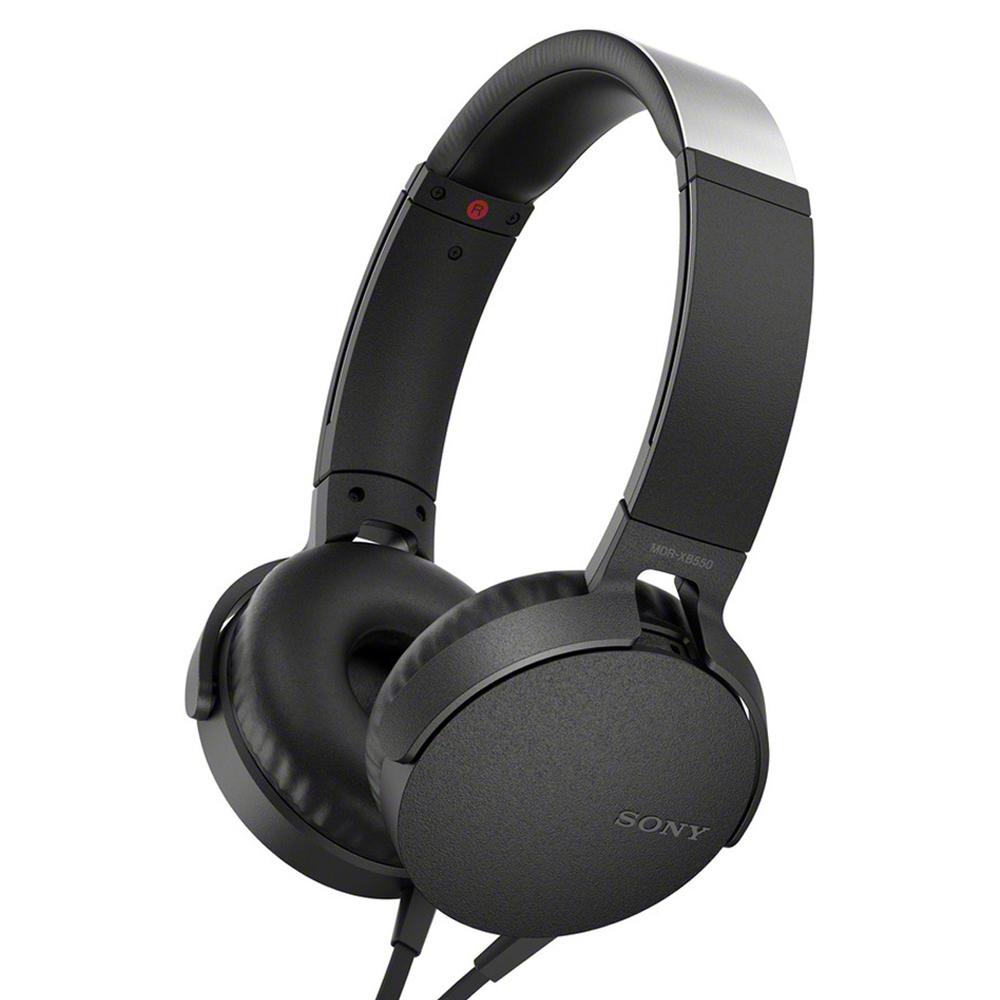소니 헤드폰 MDR-XB550AP, 블랙