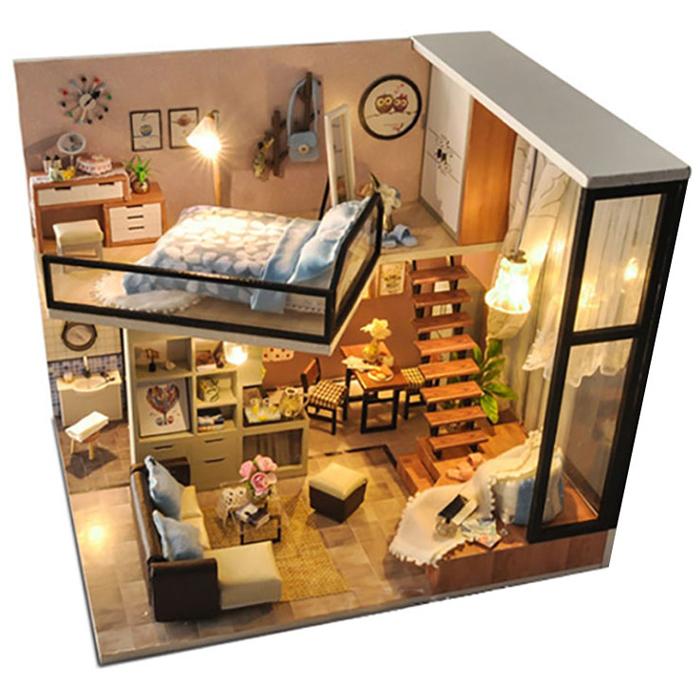 아디코 DIY 미니어처 하우스 키트 슈페리어 하우스 키트, 혼합 색상