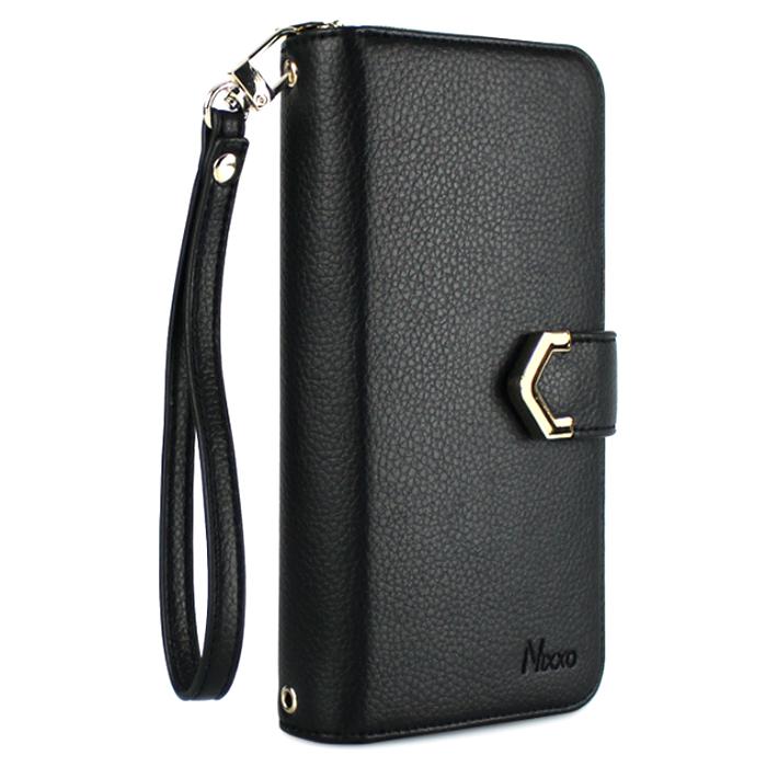 NIXXO 페블 지퍼수납 지갑형 다이어리 휴대폰케이스