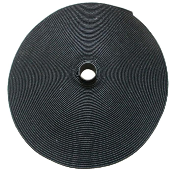 바자 반복사용 양면 벨크로 케이블타이 8m 블랙, 1개