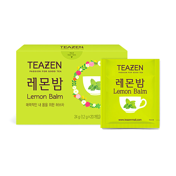 티젠 레몬밤 허브차, 1.2g, 20개입