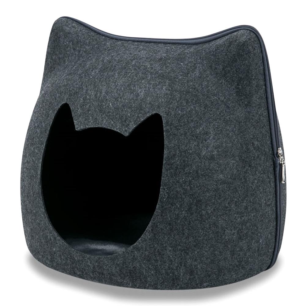 딩동펫 고양이 숨숨집 쿠션하우스 냥이형, 다크그레이