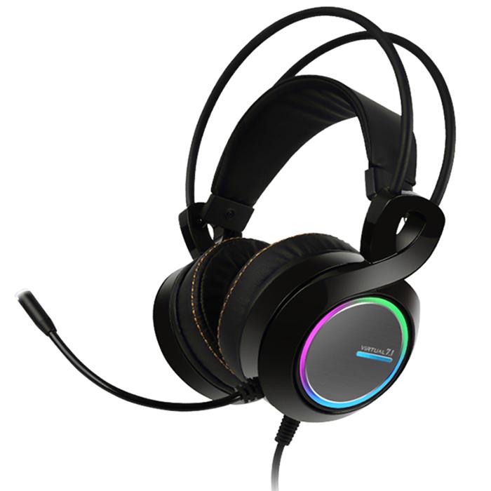 앱코 HACKER 버추얼 7.1 진동 RGB 게이밍 헤드셋 B770, BLACK