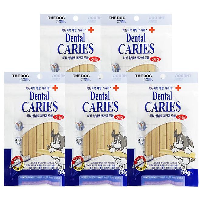 더독 먹는치약 덴탈 카리에스 강아지껌 80g, 밀, 5개입