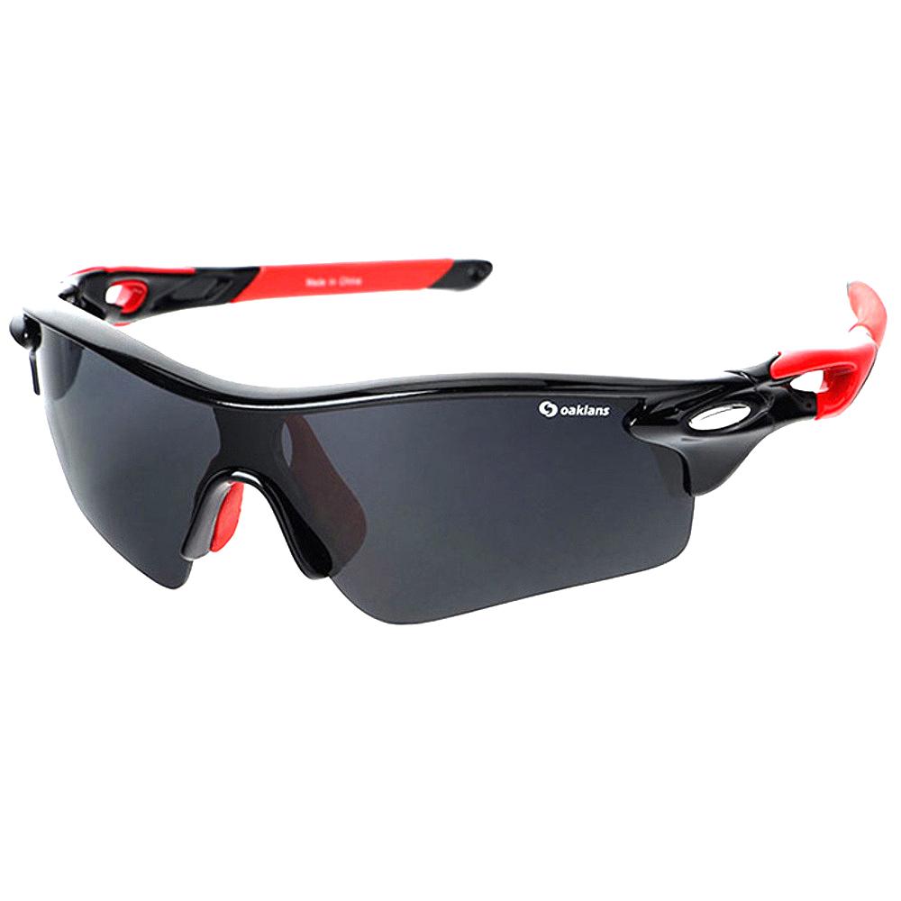 오클렌즈 편광 렌즈 스포츠 선글라스 Q320, 프레임(블랙 + 레드), 편광렌즈(스모그)