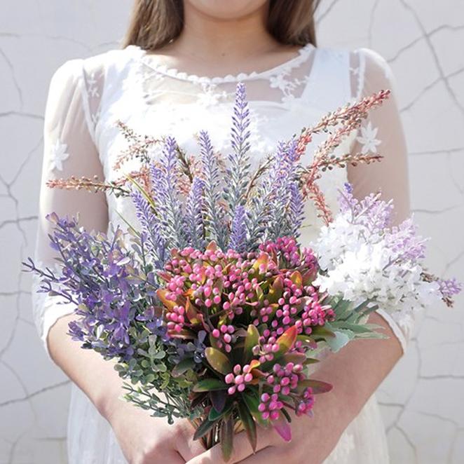 마켓블루 조화 보랏빛 들꽃, 혼합색상
